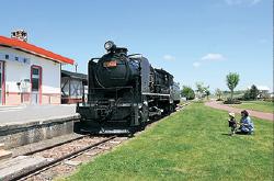 鉄道に関する資料を提示